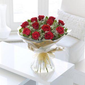 Auriculamente Rosa Roja A Mano